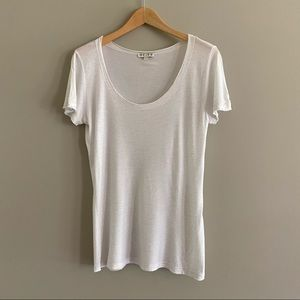 REISS T-shirt with silver shimmer EUC